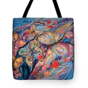The Butterflies On Blue Tote Bag