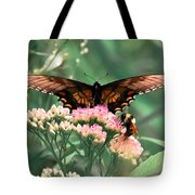 The Butterfly And The Bumblebee Tote Bag