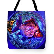 The Butterfly And The Fish Tote Bag by Joseph Mosley