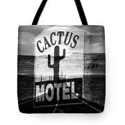 The Cactus Motel Tote Bag