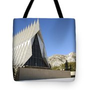 The Cadet Chapel At The U.s. Air Force Tote Bag