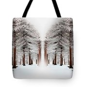 The Calm Of Winter In The Woods Tote Bag