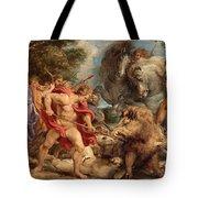 The Calydonian Boar Hunt Tote Bag