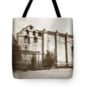 The Campanario, Or Bell Tower Of San Gabriel Mission Circa 1880 Tote Bag
