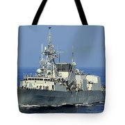The Canadian Patrol Frigate Hmcs Tote Bag