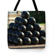 The Cannonballs At The Battery In Charleston Sc Tote Bag