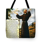 The Canticle Of The Creatures By St. Francis Of Assisi Tote Bag