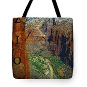 The Canyon Of Zion Tote Bag