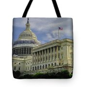 The Capitol Under Construction Tote Bag