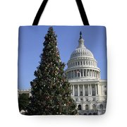 The Capitol Christmas Tree Is Decorated Tote Bag