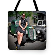 The Car Hop And The Street Rod Tote Bag