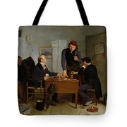 The Card Players Tote Bag by  Richard Caton Woodville