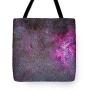The Carina Nebula And Surrounding Tote Bag