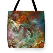 The Carina Nebula Panel Number Three Out Of A Huge Three Panel Set Tote Bag