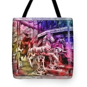 The Carousel Of Alice   Tote Bag