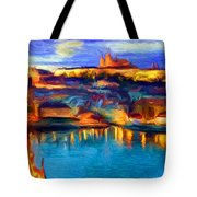 The Castle And The River Tote Bag