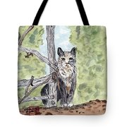 The Cat At The Fence Tote Bag