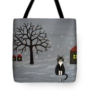 The Cat Is Waiting  Tote Bag