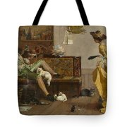 The Cat Lover Visited  Tote Bag