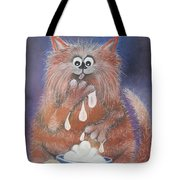 The Cat Who Got The Cream Tote Bag