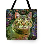The Cat Who Loved Flowers 1 Tote Bag