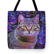 The Cat Who Loved Flowers 3 Tote Bag