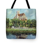 The Cathedral At Auxerre Tote Bag