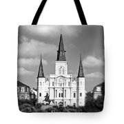 The Cathedral - Bw Tote Bag