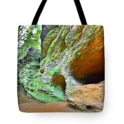 The Caves At Old Man's Gorge Trail Hocking Hills Ohio Tote Bag