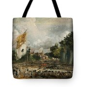 The Celebration In East Bergholt Of The Peace Of 1814 Concluded In Paris  Tote Bag