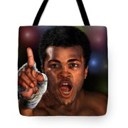 The Champ Is Here -period Tote Bag