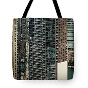 The Chandler Condominiums Building Chicago Aerial Tote Bag