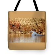 The Chase Is Over Tote Bag