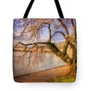 The Cherry Blossom Festival Tote Bag by Lois Bryan