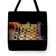 The Chess Game, New York City C. 1977 Tote Bag