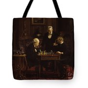 The Chess Players Tote Bag