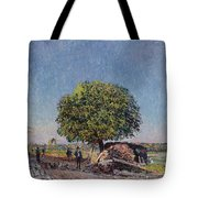 The Chestnut Tree At Saint-mammes Tote Bag