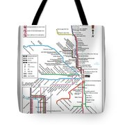 The Chicago Pubway Map Tote Bag