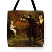 The Child Handel Discovered By His Parents Tote Bag by Margaret Isabel Dicksee