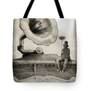 The Chimney Sweep Monochrome Tote Bag by Eric Fan