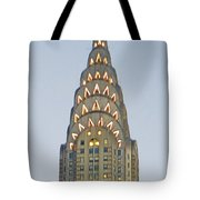 The Chrysler At Dusk Tote Bag