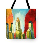 The Chrysler In Colors Tote Bag