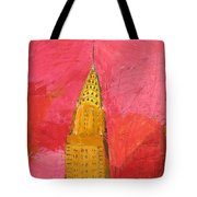 The Chrysler With Red Tote Bag