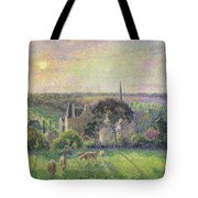 The Church And Farm Of Eragny Tote Bag