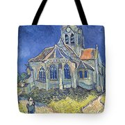 The Church At Auvers Sur Oise Tote Bag