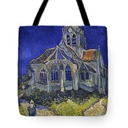 The Church At Auvers Tote Bag