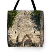 The Church At Grupo Coba At The Coba Ruins  Tote Bag