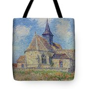 The Church At Porte-joie On The Eure By Gustave Loiseau Tote Bag