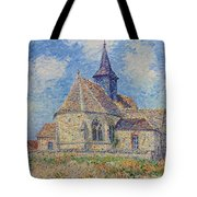The Church At Porte-joie On The Eure Tote Bag