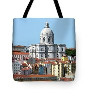 The Church Of Santa Engracia And Rooftops -- Lisbon Tote Bag